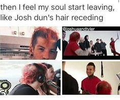 I just want to mail Josh like 40 different hair masks and a jar of coconut oil and hope he gets the hint.