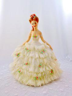 Vintage Bride Porcelain Figurine Lace by SunburyVintageStore