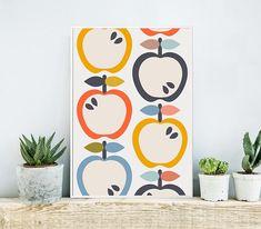 Kitchen Art Print Fruit Art Print Nursery Art Scandinavian
