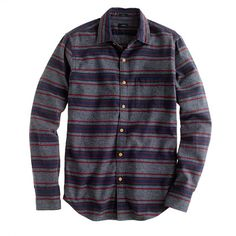 Slim brushed twill jaspé shirt in stripe (Sadly, nowhere is it to be found in a small)