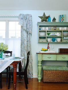 Rustic and repuporsed! That's what Purposeful Interiors is all about! Small Lake Cottage with Turquoise Interiors