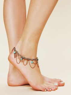 Dangly boho anklet inspiration  #ishoes #feetjewellery