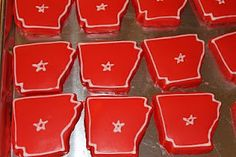 The Simple Cake: More Arkansas and Razorback Cookies