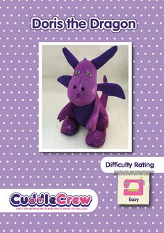 Dragon toy sewing pattern