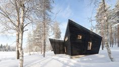 Finnish studio Toni Yli-Suvanto Architects has created a black timber pavilion that functions both as a sauna and a hub for social activities. Flat Pack Homes, Brunswick House, Sauna Design, Sauna Room, Wooden Shutters, Small Buildings, Beautiful Villas, Built Environment, Built In Storage