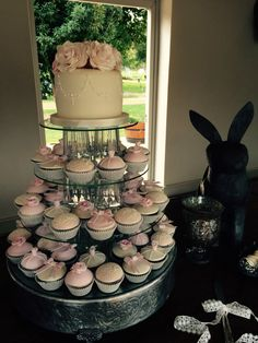 Cake and cupcake stand by The Birdcage, Stellenbosch Cake And Cupcake Stand, Cupcake Cakes, Bird Cage, Wedding Cakes, Desserts, Wedding, Wedding Gown Cakes, Tailgate Desserts, Deserts