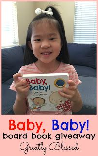 Greatly Blessed: Baby, Baby board book #giveaway
