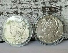 Silver Peace Dollar AU Lot of 5 S$1 Coins 1922-1935 Mix Buy More and Save More