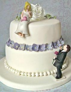 - Fondant-Hochzeitstorten