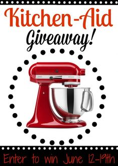 4 hours left to Enter for a Kitchen Aid Mixer!  http://thatsmyhome.com/articles/kitchen-aid-mixer-giveaway/ #kitchenaidmixer #kitchenaid