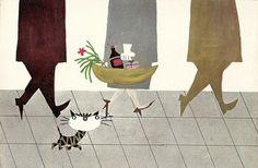 WOELEWIPPIE ONDERWEG (1960) Fiep Westendorp. (OMG I love that little kitty!)