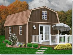 Best Barns Richmond 16 x 32 Wood Shed Kit, starting at $9,295