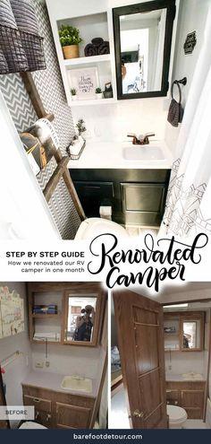 How To Remodel A Camper, Camper Renovation, Trailer Remodel, Springdale Camper, Camper Interior, Diy Camper, Rv Campers, Camper Ideas, Camper Cushions
