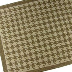 Chocolate Houndstooth Indoor & Outdoor Designer Area Rug, 52 X 32 Inches Houndstooth, Cross Stitch Embroidery, Indoor Outdoor, Area Rugs, Design, Home Decor, Rugs, Decoration Home, Room Decor