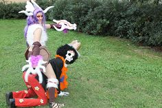Shyvana Boneclaw and Brook, League of Legends and One Piece Cosplay