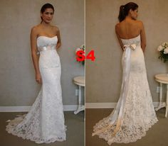 custom+made+wedding+dress+lace   ... Backless Mermaid Bridal Wedding Dresses Lace Gowns Custom Made   eBay
