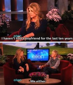 "And when she identified with Kirstie Alley. | The 35 Greatest Moments Ever On ""The Ellen Show"""