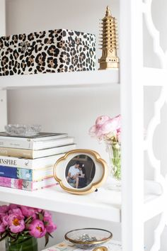 Interior and Textile Designer Caitlin Wilson // shelf sytling // books // all white // Photography by Courtney Apple // @Caitlin Wilson Textiles