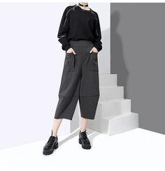 Milly Front Pocket Crop Pants - Gray – Marigold Shadows