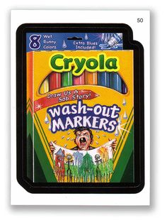 Wacky Packages Topps 6th Series 2007 Sticker: Cryola Markers - #50