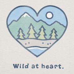 Women's Wild At Heart Short Sleeve Crusher Tee | Mountain Tee Shirts | Life is good