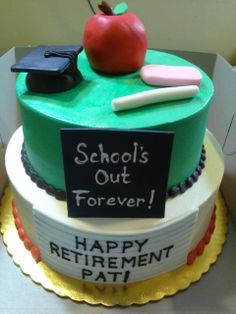 Teacher's retirement cake, by Monicakes, Warren MI   https://www.facebook.com/monicas.cake.77