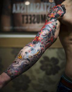Japanese tattoo sleeve idea