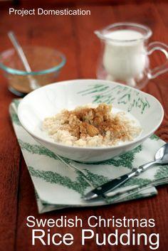 Swedish Christmas Rice Pudding - Risgrynsgröt or Risgrynspudding #Swedish #holiday #ricepudding