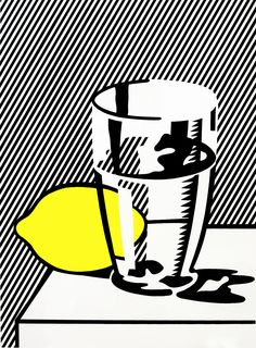 Roy Lichtenstein, Untitled (Still Life with Lemon and Glass), 1974