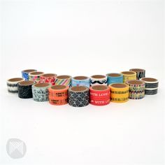 Collected & Co. Patterned Paper Tape - 18 different designs $2 each! #washitape #washi #patterns