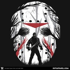 Friday Shadow T-Shirt - Jason Voorhees T-Shirt is $11 today at Ript!