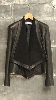 Lamb's Fur Moto Jacket. I love love the contrast between the soft fur and the shine of the leather.