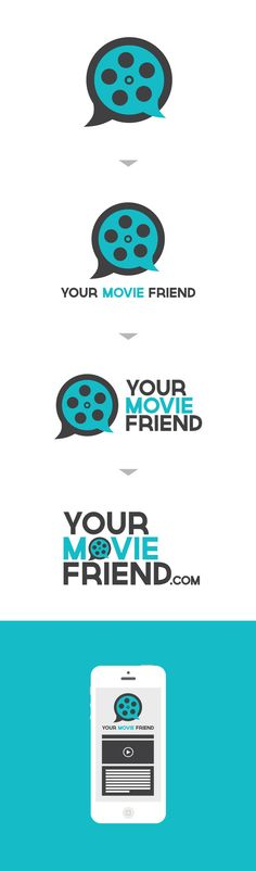 Your Movie Friend logo by Josh Thomassen, via Behance