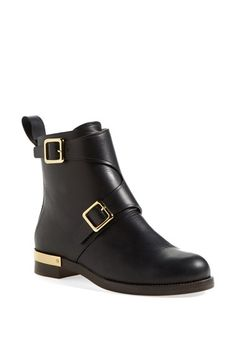 Free shipping and returns on Chloé 'Colby' Double Monk Strap Moto Ankle Boot (Women) at Nordstrom.com. Double monk straps and a gilded heel bring unmistakable sophistication to a classic calfskin ankle boot.