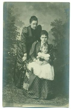 Grand Duchess Maria with her mother Alexandra, and grandmother Queen Olga of Greece