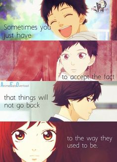 Just accept the fact :/ Anime: Ao haru ride // Blue spring ride Fact Quotes, Mood Quotes, Positive Quotes, Mysterious Quotes, Blue Springs Ride, Animes To Watch, Cyberpunk City, Anime People, Anime Guys