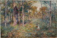 Frederick McCubbin  Girl in forest, Mount Macedon  1913