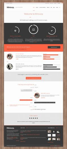 Minicorp WP, WordPress Responsive Freelance Webmaster by Premium Themes, via Behance
