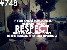 I really don't understand why other people don't get this... Respect relationships