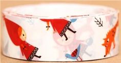 Amazon.com: white mini Little Red Riding Hood fairy tale deco tape: Office Products