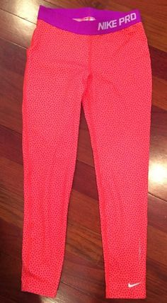 Nike Girls Dri-Fit Pro Stay Warm Allover Print Capri Legging Size M MSRP $45  | eBay
