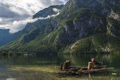 Bohinj lake 💚 #dogtravel #adventureswithdogs #dogsthathike