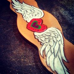 Hand carved and painted heart with wings. Cute Ponies, Heart With Wings, Horse Tack, Hand Carved, Pony, Super Cute, Carving, Horses, Painting