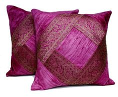 SKU NO: (CUSHION COVER 29) 2 Traditional Banarsi Silk Brocade Velvet Indian Ethnic Decorative Pink Throw Pillow Cushion Covers by Krishna Mart India, http://www.amazon.com/dp/B00C1BTR28/ref=cm_sw_r_pi_dp_Hkkhsb1HF3M83