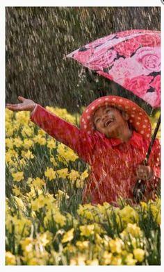Dancing in the rain ...