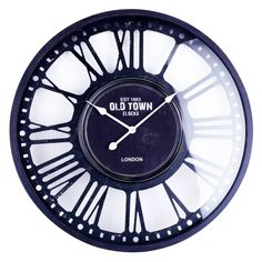 Hobbitholeco Old Town London Wall Clock - Black - IMP6568