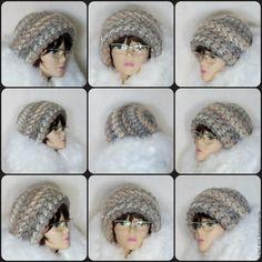 Купить Шапка вязаная женская теплая, шапка из мохера крючком - шапка вязаная женская