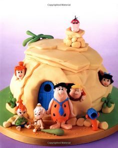Flintstones Cake. How cute.