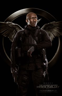"I want to be saved by Rebel fighter ""Boggs"" (Mahershala Ali) from The Hunger Games: Mockingjay - Part 1"