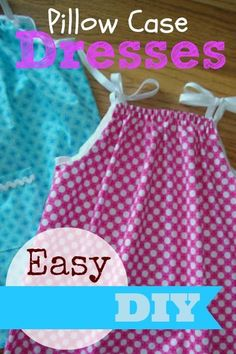 Pillow Case Dresses - DIY. I know were in that time of year where you can almost smell Fall in the air, but with a petticoat, a turtleneck, and a pair of tights,  this would be SO cute for fall and Winter!!  I'm making this for my girlie girl!